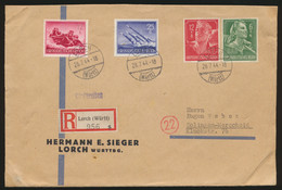Deutsches Reich R Brief MIF Wehrmacht Und RAD Ab Lorch Nach Solingen Merscheid - Deutschland