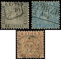 ALLEMAGNE (ANCIENS ETATS) BADE 13/15 : Dentelés 10, Obl., TB - Baden