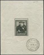 BELGIQUE BF 4 : 5f. + 5f. Noir-olive, Obl., TB - Blocs 1924-1960