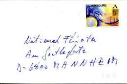LUXEMBOURG. N°1419 De 1999 Sur Enveloppe Ayant Circulé. Euro. - Münzen