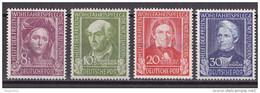 Men_ Bund 1949 - Mi.Nr. 117 - 120 - Postfrisch MNH - BRD