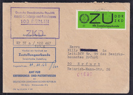 DDR.ZKD-Brief, EF. Mi.-Nr. E 2 Y - Official