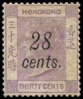 * HONG KONG 28 : 28c. Sur 30c. Violet, G. Altérée Sinon TB - Hong Kong (1997-...)