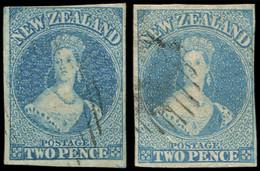 NOUVELLE-ZELANDE 9 : 2p. Bleu, 2 Nuances, Obl., TB - New Zealand