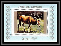 0116/ Michel N° 1531 Stag Deer Cerf Animaux - Animals Umm Al Qiwain Deluxe Blocs ** MNH - Other