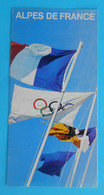 WINTER OLYMPIC GAMES 1968 GRENOBLE - Old Olympics Brochure * Jeux Olympiques D'hiver Olympia Olympiade Giochi Olimpici - Kleding, Souvenirs & Andere