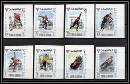 0221d Umm Al Qiwain N°332/339 B Grenoble Sapporo Overprint Jeux Olympiques Olympic Games** Mnh Non Dentelé Imperf - Winter 1968: Grenoble
