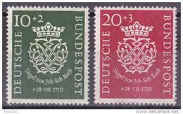 Men_ Bund 1950 - Mi.Nr. 121 - 122 - Postfrisch MNH - Bach - BRD