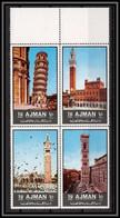 Ajman - 2517c/ N° 2074/2077 A ** MNH Sights Of Italy Italia Pise Venise Sienne ARCHITECTURE Momuments - Ajman