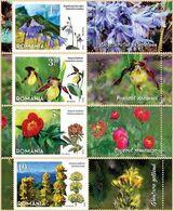 ROMANIA, 2020, Protected Flowers, Plants, 4 Stamps + Label, MNH (**); LPMP 2296 - 1948-.... Repubbliche