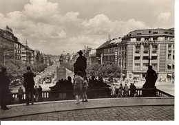 Tchequie Republique Tcheque Praha Prague Place Venceslas Rampe Musée Natinal 1966 Batiment Edifice - República Checa