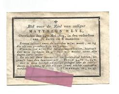 DD 251. MATTHEUS WEVE Overleden 1819 (76j.) -  Prent : Samsonis Duellum Cum Leone - Gravure Van C. GALLE - Andachtsbilder