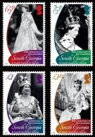 South Georgia 2013 60th Anniversary Of The Coronation 4v MNH - Géorgie Du Sud