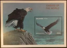 Maldives 1997 Birds Eagles Minisheet MNH - Arends & Roofvogels