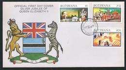 FDC Silver Jubilee Of Queen Elizabeth IIannée 1977   - LL18301 - Botswana (1966-...)