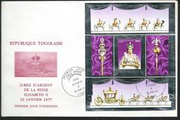 TOGO  FDC Silver Jubilee  Queen Elisabeth II  8/02/1977  -   LL18303 - Togo (1960-...)