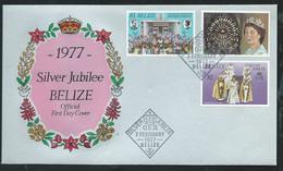 BELIZE  FDC Silver Jubilee  Queen Elisabeth II  8/02/1977  -   LL18304 - Belize (1973-...)