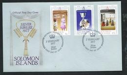 Iles Salomon    FDC Silver Jubilee  Queen Elisabeth 7/02/1977  -   LL18312 - British Solomon Islands (...-1978)