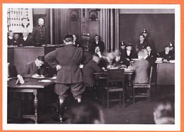 Tues023 LEIPZIG 21-09-1933 Incendie REICHSTAG GOERING Au Proces DIMITROFF Photo-Presse RE-EDITION - Guerra, Militari
