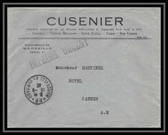 116521 Lettre Entete Cusenier Cover Bouches Du Rhone Marseille Prado Port Payé Imprimé Urgent 1940 Cusenier - Postmark Collection (Covers)
