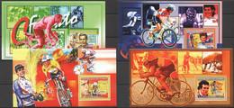 SS1000 2006 DE GUINEE SPORT CYCLING WINNERS TOUR DE FRANCE 4BL MNH - Wielrennen