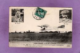 PARIS MADRID 21 Mai 1911 Le Départ MM. Train Et Bonnier, Dont La Chute A Causé La Mort De M. Berteaux Ministre  Ed F.F. - Flieger