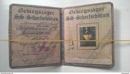 WW2 German Interest - SS Mountain Division Identity Card  -- Please Read Description Below - 1939-45