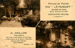 Arcachon * Villa LE MUGUET * Allées Du Parc , Aux Abatilles * M. GRILLON Propriétaire , Pension De Famille - Arcachon