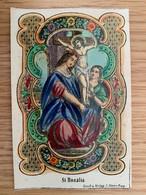 Holy Card 167 Santini Heilgenbild Holycard Images Pieuse Religieuse Image Epinal 1850 St Rosalia Koppe Prague Praha - Santini