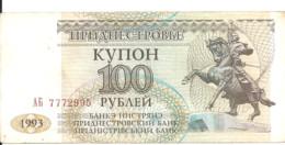 TRANSNISTRIE 100 RUBLEI 1993 VF P 20 - Moldavia