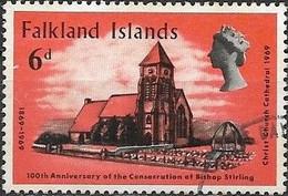 FALKLAND ISLAND 1969 Centenary Of Bishop Stirling's Consecretation -  6d. Christ Church Cathedral, 1969 FU - Falklandeilanden