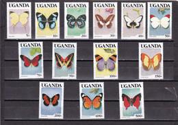 Uganda Nº 607 Al 619 - Uganda (1962-...)