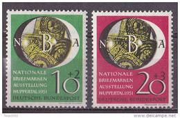 Men_ Bund 1951 - Mi.Nr.  141 - 142 - Postfrisch MNH - BRD