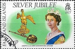 FALKLAND ISLAND 1977 Silver Jubilee - 11p - The Queen, Ampulla And Anointing Spoon FU - Falklandeilanden
