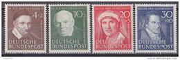 Men_ Bund 1951 - Mi.Nr. 143 - 146  - Postfrisch MNH - BRD