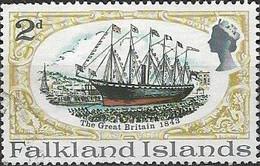 FALKLAND ISLAND 1970 SS Great Britain Restoration - 2d - S.S. Great Britain (1843) FU - Falklandeilanden