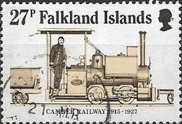 FALKLAND ISLAND 1985 70th Anniversary Of Camber Railway - 27p - Class Wren Locomotive At Work FU - Falklandeilanden