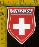 Scudetto Stemma In Stoffa Souvenir D' Epoca Svizzera - Patches