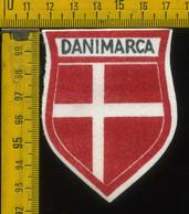 Scudetto Stemma In Stoffa Souvenir D' Epoca Danimarca - Patches