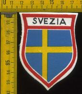 Scudetto Stemma In Stoffa Souvenir D' Epoca Svezia - Patches