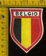 Scudetto Stemma In Stoffa Souvenir D' Epoca Belgio - Patches