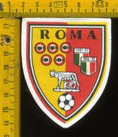 Scudetto Stemma In Stoffa Souvenir D' Epoca Calcio Roma - Patches