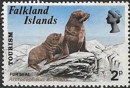 FALKLAND ISLAND 1974 Tourism - 2p - South American Fur Seal FU - Falklandeilanden