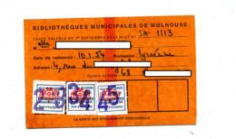 Carte De Bibliotheque Mulhouse - Other