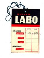 Carte De  Vidange Huile Labo - Other