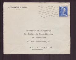 """Algérie, Enveloppe à En-tête """" Le Sous-préfet De Djidjelli """" Pour Paris - Storia Postale"""