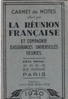 PARIS 1940 / RUE VIVIENNE / CARNET DE NOTES OFFERT PAR LA REUNION FRANCAIUSE ET CIE D ASSURANCES REUNIES / TTBE - Frankreich