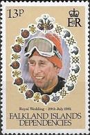 FALKLAND ISLAND DEPENDENCIES 1981 Royal Wedding - 13p - Prince Charles Dressed For Skiing MNH - Falklandeilanden