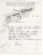 86 - Vienne - VOUZAILLES - Facture GORIN - Machines Agricoles, Voitures - 1919 - REF 161B - 1900 – 1949