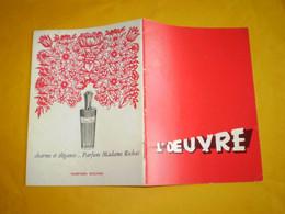 Theatre De L'Oeuvre, George Bernard Shaw; Pygmalion, Pierre Vaneck, JF Rémi, Alfred Adam ... Photos, Pubs - Programas